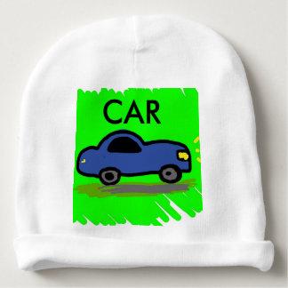 Bonnet Pour Bébé dessin bleu de voiture