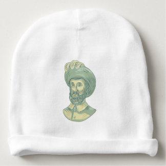 Bonnet Pour Bébé Dessin de buste de Juan SebastiAn Elcano