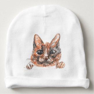 Bonnet Pour Bébé Dessin de chat, calotte mignonne de coton de bébé