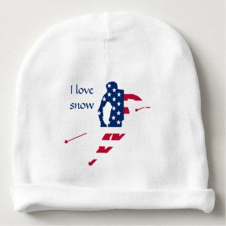 Bonnet Pour Bébé Drapeau des Etats-Unis d'Américain de ski de