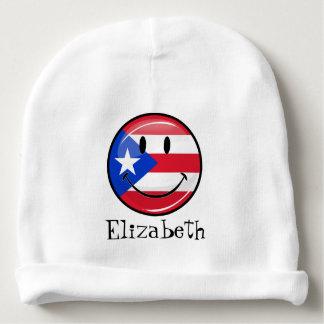 Bonnet Pour Bébé Drapeau portoricain de sourire