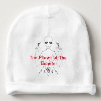 Bonnet Pour Bébé E.T. Sketch féminin blanc sur la calotte de TPOTB