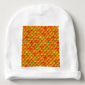 Bonnet Pour Bébé Échelles oranges et vertes de Falln