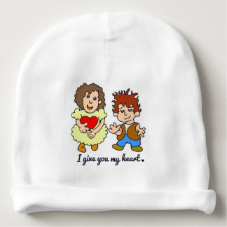 Bonnet Pour Bébé Je donne à U mon coeur