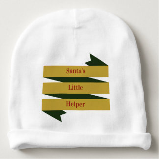 Bonnet Pour Bébé La petite aide de Père Noël - calotte de coton de