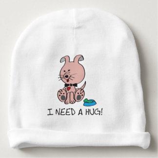 Bonnet Pour Bébé Le petit chien rose mignon a besoin d'une étreinte