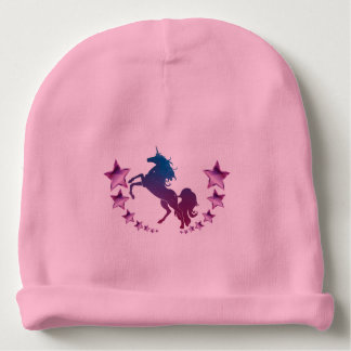 Bonnet Pour Bébé Licorne avec des étoiles