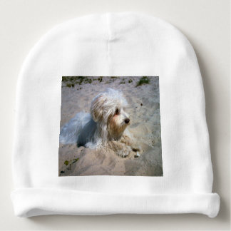 Bonnet Pour Bébé maltais sur la plage