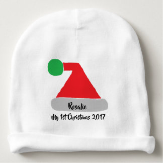 Bonnet Pour Bébé Mon casquette nommé fait sur commande de Père Noël