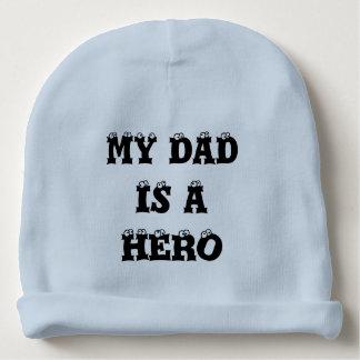 Bonnet Pour Bébé Mon papa est une calotte de bébé de héros