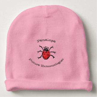 Bonnet Pour Bébé Nom rouge de bébé de coccinelles de futur