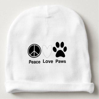 Bonnet Pour Bébé Pattes d'amour de paix