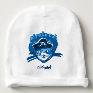 Bonnet Pour Bébé piratez le minou doux de chat avec la bande