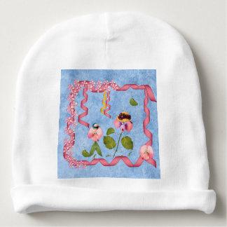 Bonnet Pour Bébé Pois doux humoristiques roses et personnes de