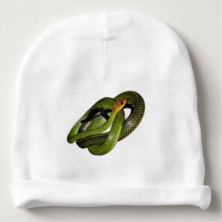 Bonnet Pour Bébé Ratsnake Noir-mis en marge ou serpent de rat vert