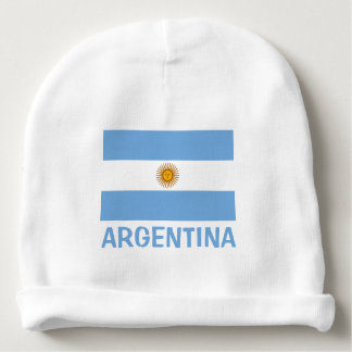 Bonnet Pour Bébé Texte bleu personnalisable de drapeau d'Aruba