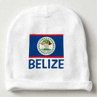Bonnet Pour Bébé Texte bleu personnalisable de drapeau de Belize