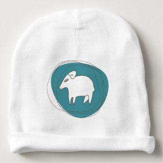 Bonnet Pour Bébé Un mouton dans les ovales
