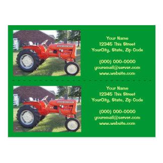 Bookmarker de tracteur/cartes de visite - carte postale