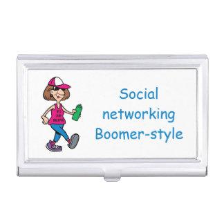 Boomer-stijl de Houder van het Visitekaartje Visitekaarthouder