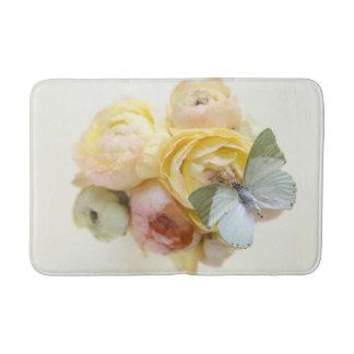 Bord - groene vlinder op bloemen badmat