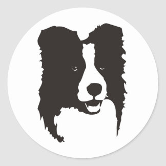 Border collie ronde sticker