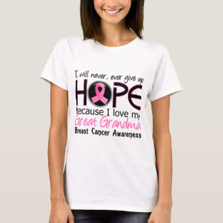 Borst Cance van de Oma van de Hoop nooit de Grote T Shirt