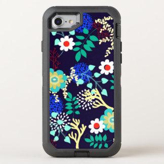 Botanique de minuit - motif floral abstrait coque otterbox defender pour iPhone 7