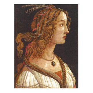 Botticelli, Sandro Portr ? Madame de jungen Carte Postale