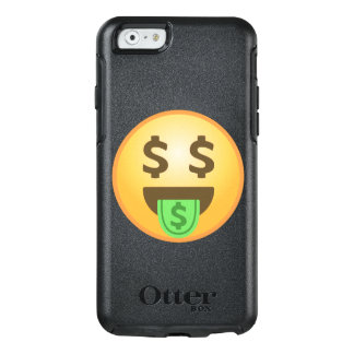 Bouche Emoji d'argent Coque OtterBox iPhone 6/6s