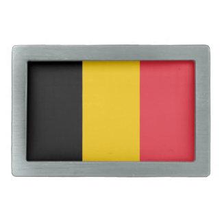 Boucle de ceinture avec le drapeau de la Belgique