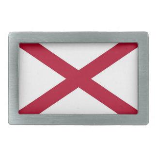 Boucle de ceinture avec le drapeau de l'Alabama