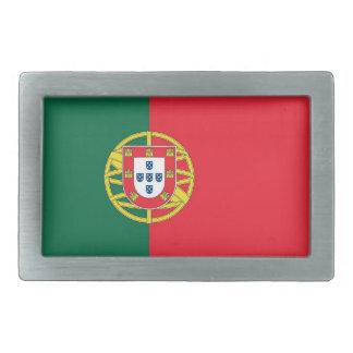 Boucle de ceinture avec le drapeau du Portugal