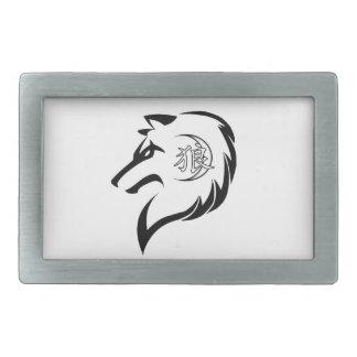 Boucle de ceinture de logo de loup de MORs