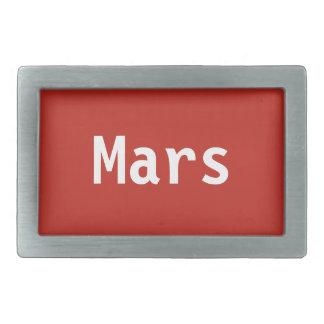 Boucle de ceinture de Mars