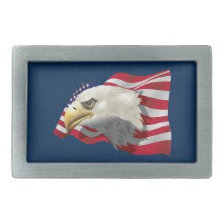 Boucle de ceinture d'Eagle Rect d'Américain