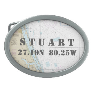 Boucle De Ceinture Ovale Diagramme nautique Stuart FL de longitude de