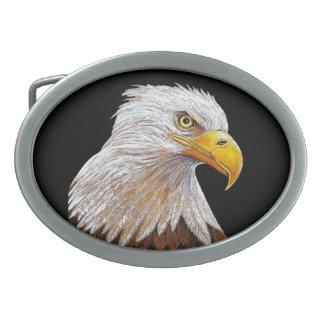 Boucle De Ceinture Ovale Eagle chauve américain
