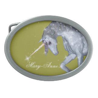 Boucle De Ceinture Ovale Étincelles de licorne