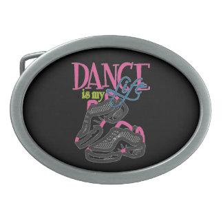 Boucle De Ceinture Ovale La danse est ma boucle de bouée de sauvetage