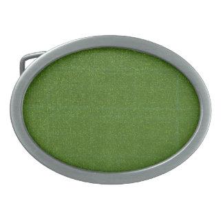 Boucle De Ceinture Ovale L'ARTISTE a créé l'arrière - plan vert-foncé