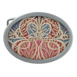 Boucle De Ceinture Ovale Motif #10 de Nouveau d'art chez Emporio Moffa