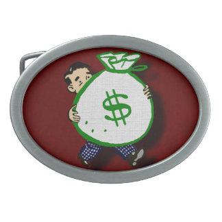 Boucle De Ceinture Ovale Sac d'argent