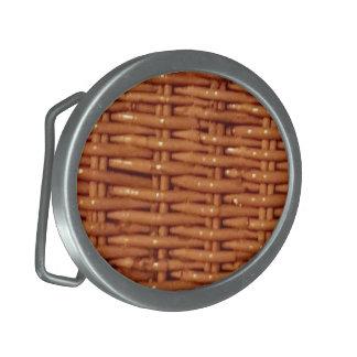 Boucle De Ceinture Ovale Style campagnard en osier rustique de panier de