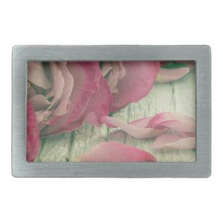 Boucle De Ceinture Rectangulaire arrière - plan de roses