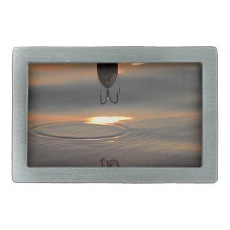 Boucle De Ceinture Rectangulaire Attrait de coucher du soleil