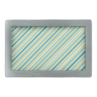 Boucle De Ceinture Rectangulaire Boucle bleu-clair de rectangle de rayure