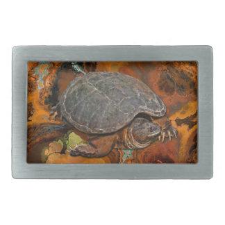 Boucle De Ceinture Rectangulaire Cadeau de Terrapin-amant de tortue de rupture