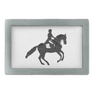 Boucle De Ceinture Rectangulaire Conception de mosaïque de cheval et de cavalier de