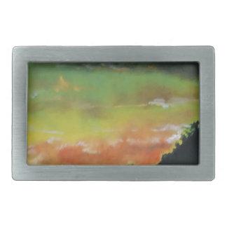 Boucle De Ceinture Rectangulaire Coucher du soleil 2